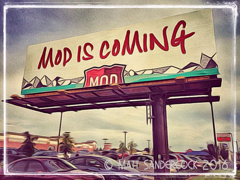 project 366, sign, iColorama, Mod Pizza, billboard