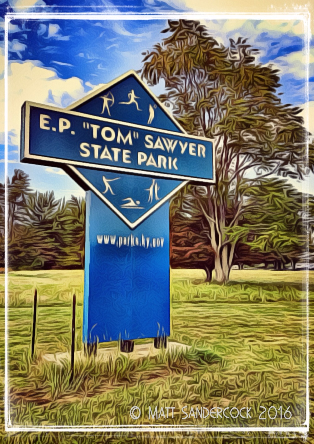 project 366, sign, iColorama, Tom Sawyer Park, state park, Louisville, Kentucky, sports, recreation, sports